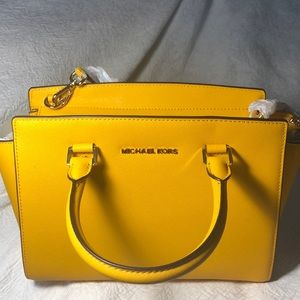 Yellow michael kors bag